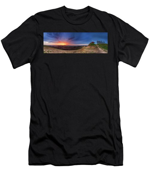 Men's T-Shirt (Athletic Fit) featuring the photograph Fire On The West Side by Davor Zerjav