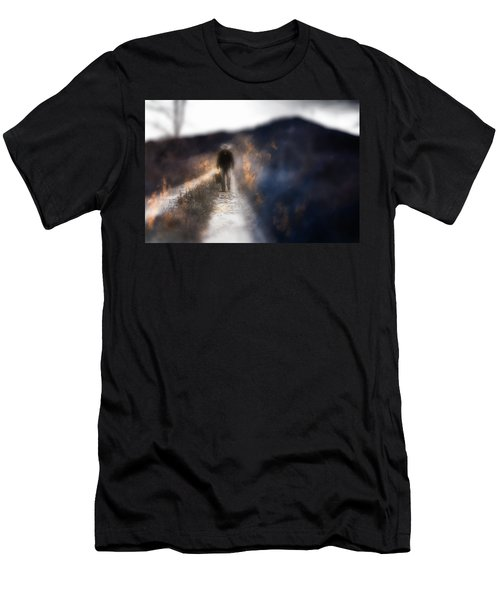 Men's T-Shirt (Slim Fit) featuring the photograph Fire Road by Gray  Artus