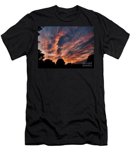 Fire Swept Sky  Men's T-Shirt (Athletic Fit)