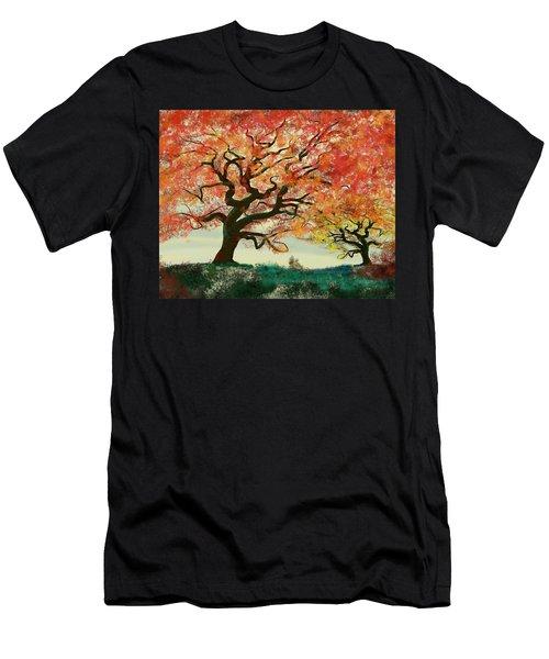 Fire Tree Men's T-Shirt (Athletic Fit)