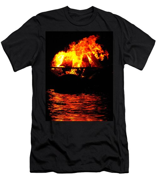 Fire Water Illuminates The Night Men's T-Shirt (Athletic Fit)