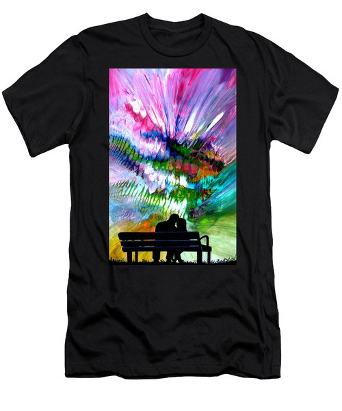 Fire Works In The Park Men's T-Shirt (Athletic Fit)