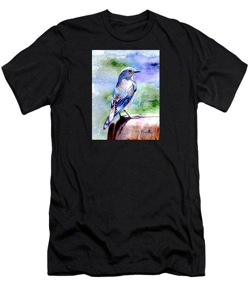 Firehole Bridge Bluebird - Female Men's T-Shirt (Athletic Fit)