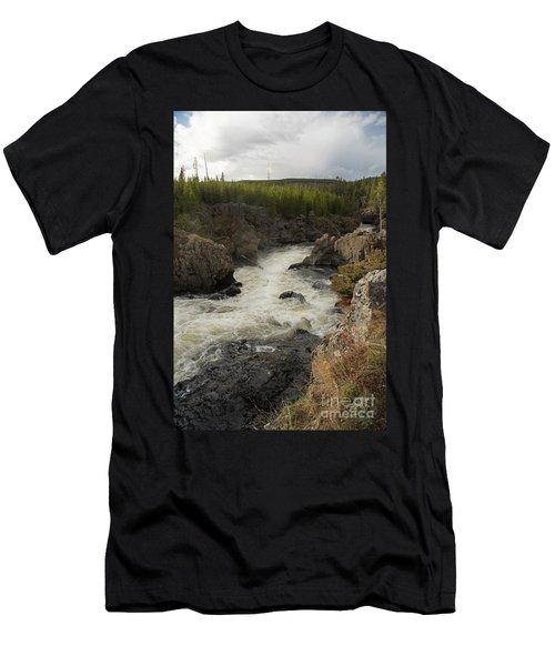 Firehole River Cascade Men's T-Shirt (Athletic Fit)