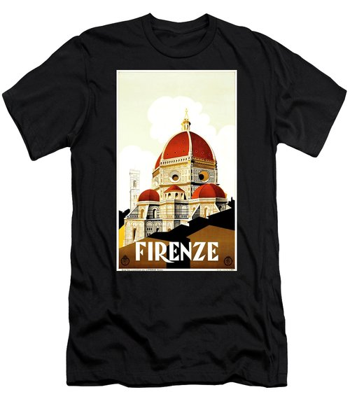 Firenze Travel Poster 1930 Men's T-Shirt (Athletic Fit)