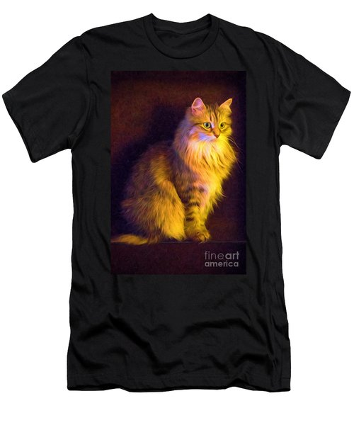 Fireside Feline Men's T-Shirt (Athletic Fit)