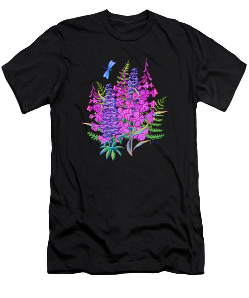Fireweed And Lupine T Shirt Design Men's T-Shirt (Athletic Fit)