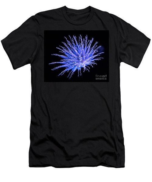 Firework Blue Men's T-Shirt (Athletic Fit)
