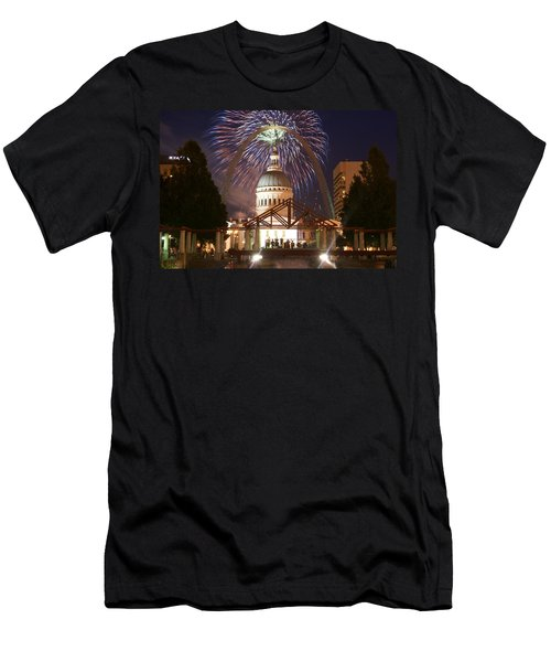 Fireworks At The Arch 1 Men's T-Shirt (Athletic Fit)