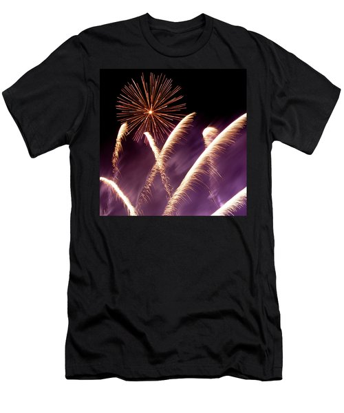 Fireworks In The Night Men's T-Shirt (Athletic Fit)