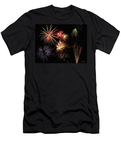 Fireworks Men's T-Shirt (Slim Fit) by Jeff Kolker