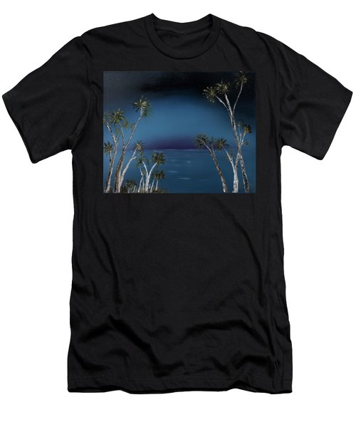 Fireworks Palms Men's T-Shirt (Athletic Fit)