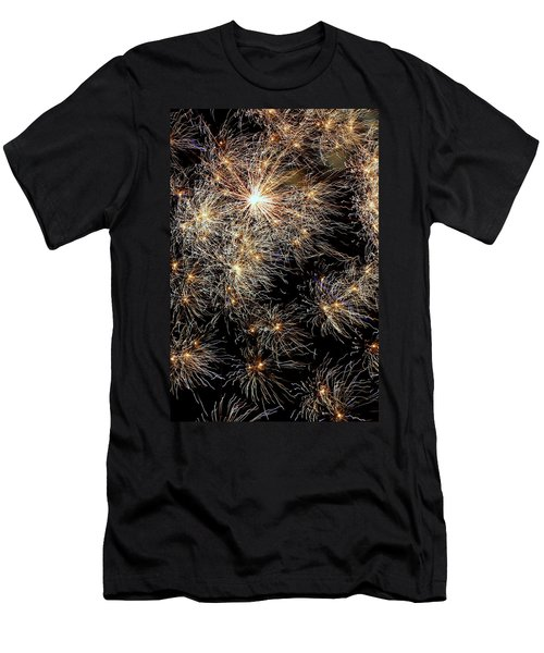 Men's T-Shirt (Slim Fit) featuring the photograph Fireworks by Suzanne Stout