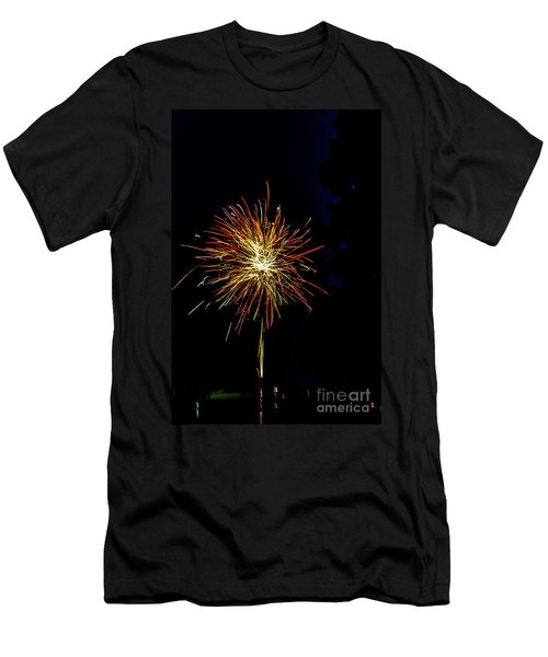 Men's T-Shirt (Athletic Fit) featuring the photograph Fireworks by William Norton