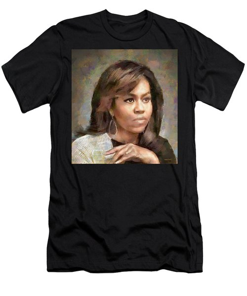 First Lady Michelle Obama Men's T-Shirt (Athletic Fit)
