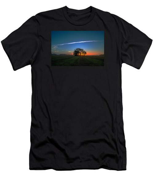 Men's T-Shirt (Slim Fit) featuring the photograph First Light At Center Grove by John Harding
