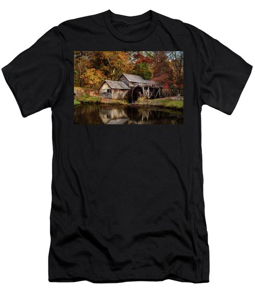 First Light At Mabry Mill Men's T-Shirt (Slim Fit) by Deborah Scannell