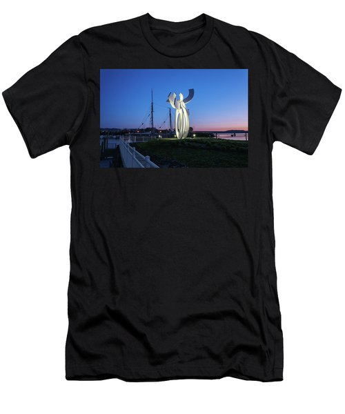 First Light At The Waterfront Men's T-Shirt (Athletic Fit)