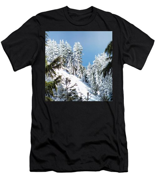 Men's T-Shirt (Slim Fit) featuring the photograph First November Snowfall by Wendy McKennon