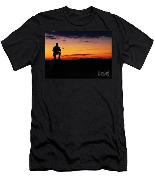 First Pennsylvania Cavalry Sunrise Gettysburg Men's T-Shirt (Slim Fit) by Randy Steele