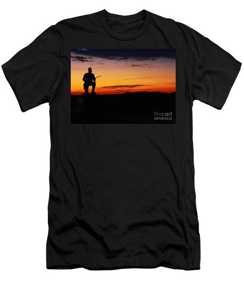 First Pennsylvania Cavalry Sunrise Gettysburg Men's T-Shirt (Athletic Fit)