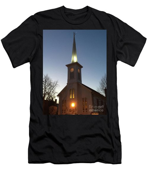 First Presbyterian Churc Babylon N.y After Sunset Men's T-Shirt (Athletic Fit)