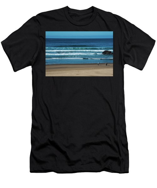 First Steps On The Sand Men's T-Shirt (Athletic Fit)