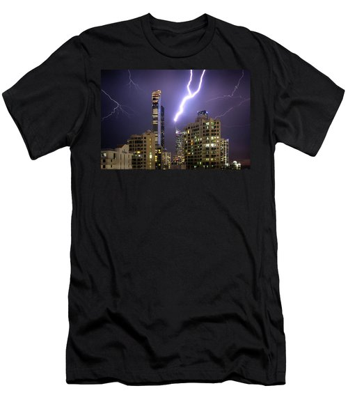 Men's T-Shirt (Athletic Fit) featuring the photograph First Strike by Az Jackson