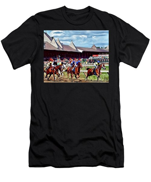 First Turn Saratoga Men's T-Shirt (Athletic Fit)