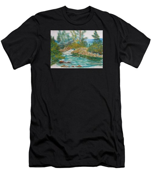 First Watercolour Men's T-Shirt (Athletic Fit)