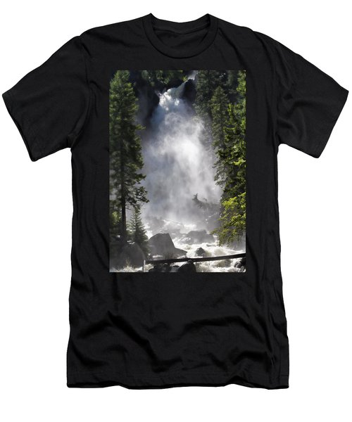 Men's T-Shirt (Slim Fit) featuring the photograph Fish Creek Falls by Don Schwartz