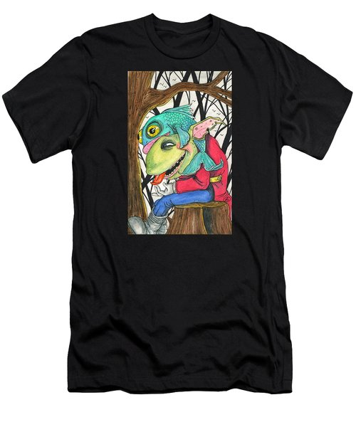 Fish Face Men's T-Shirt (Athletic Fit)