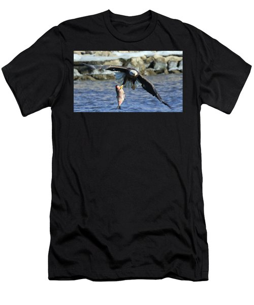Fish In Hand Men's T-Shirt (Athletic Fit)