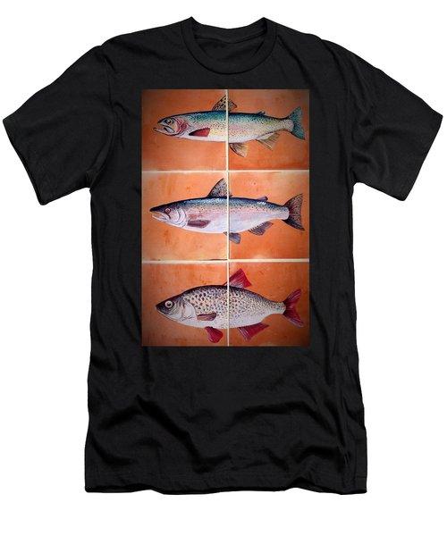 Fish Mural Men's T-Shirt (Athletic Fit)