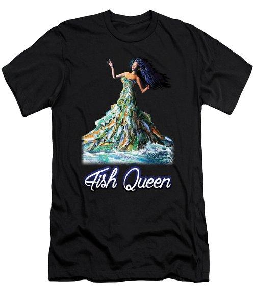 Fish Queen Men's T-Shirt (Athletic Fit)