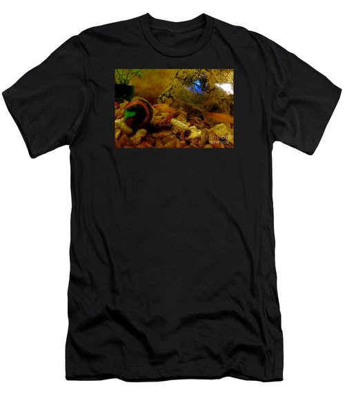 Men's T-Shirt (Slim Fit) featuring the photograph Fish Tank Abstract by Cassandra Buckley