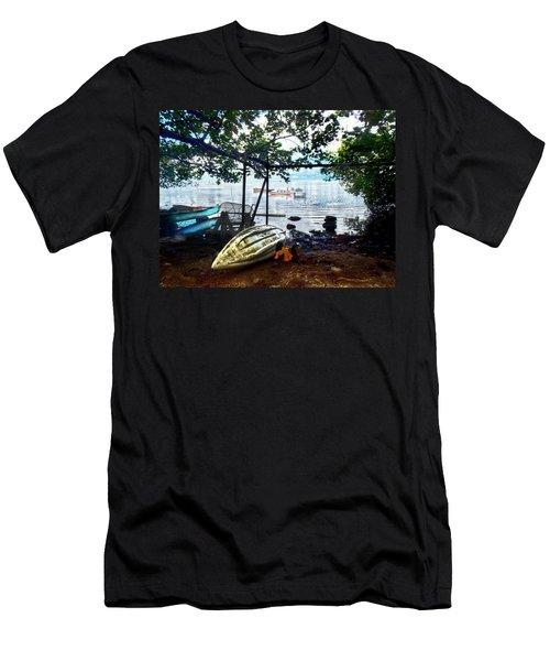 Fisherman's Cove In Moorea Men's T-Shirt (Athletic Fit)