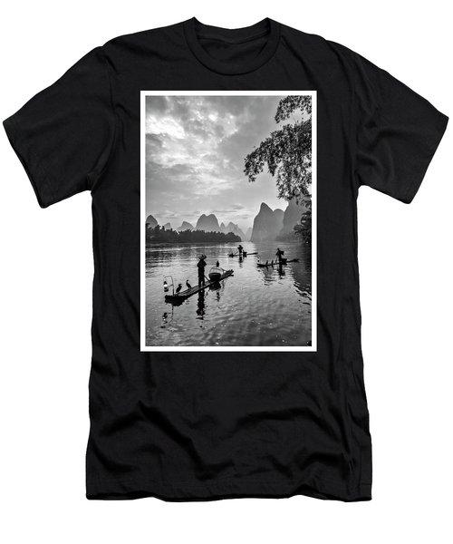Fishermen At Dawn. Men's T-Shirt (Athletic Fit)