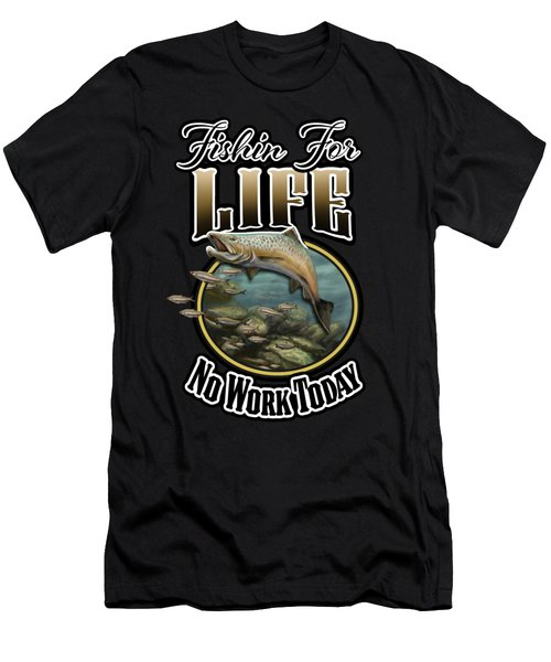 Fishin For Life Men's T-Shirt (Athletic Fit)
