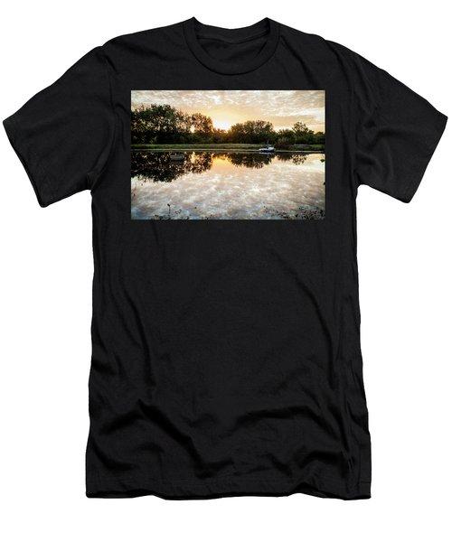 Fishing At Dawn Men's T-Shirt (Athletic Fit)