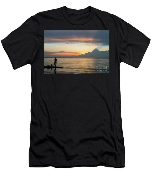 Fishing At Sunset Men's T-Shirt (Athletic Fit)