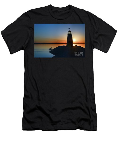 Fishing At The Lighthouse Men's T-Shirt (Athletic Fit)
