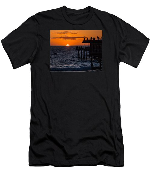 Fishing At Twilight Men's T-Shirt (Athletic Fit)