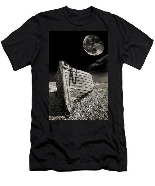 Fishing Boat Graveyard 3 Men's T-Shirt (Slim Fit) by Meirion Matthias