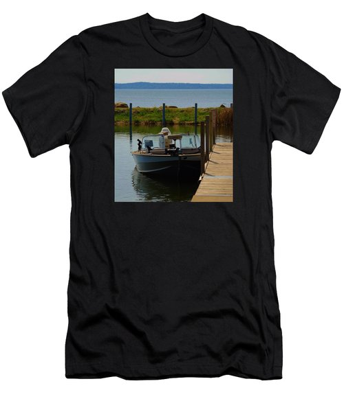 Men's T-Shirt (Slim Fit) featuring the photograph Fishing Boat by Ramona Whiteaker