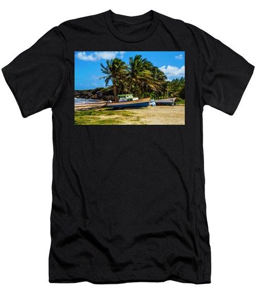 Fishing Boat Men's T-Shirt (Athletic Fit)