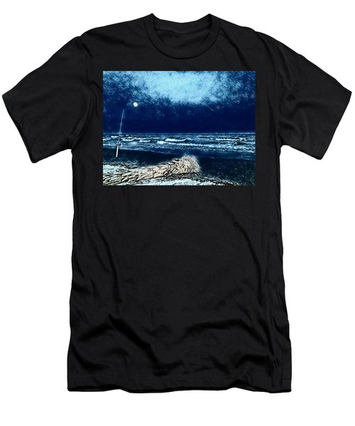 Fishing For The Moon Men's T-Shirt (Athletic Fit)