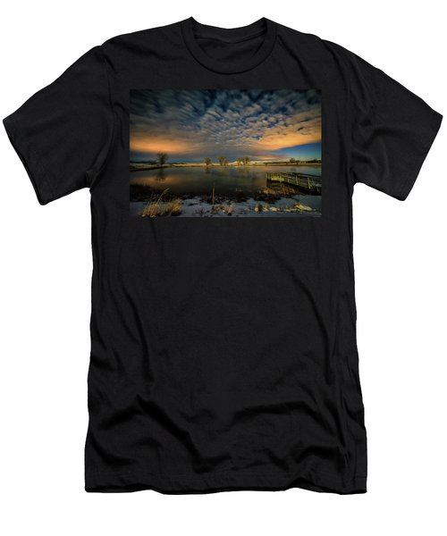 Fishing Hole At Night Men's T-Shirt (Athletic Fit)