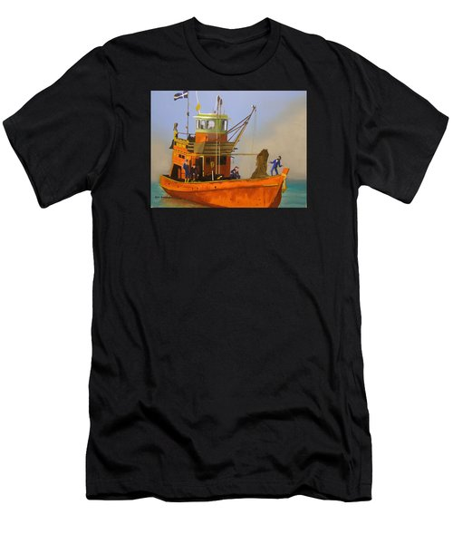 Fishing In Orange Men's T-Shirt (Athletic Fit)