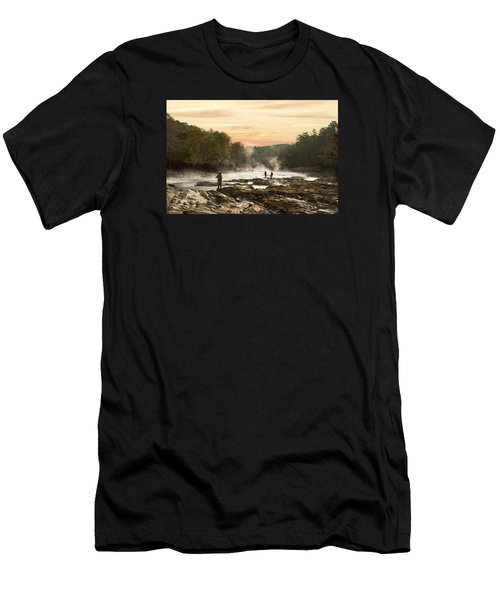 Fishing In The Mist Men's T-Shirt (Athletic Fit)